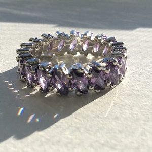 Jewelry - 💜Amethyst eternity band in 925 Sterling.💜
